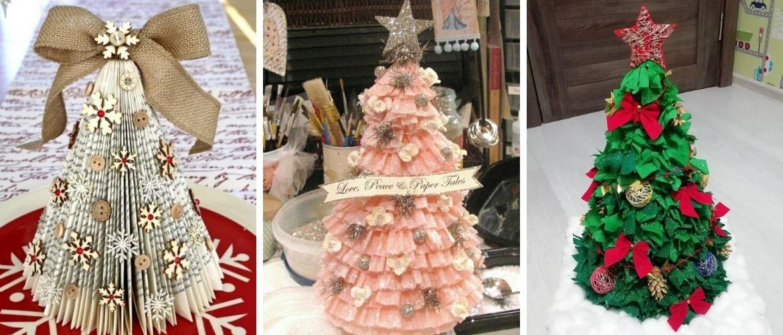 Необычная елка из бумаги своими руками на Новый год 2021: лучшие идеи