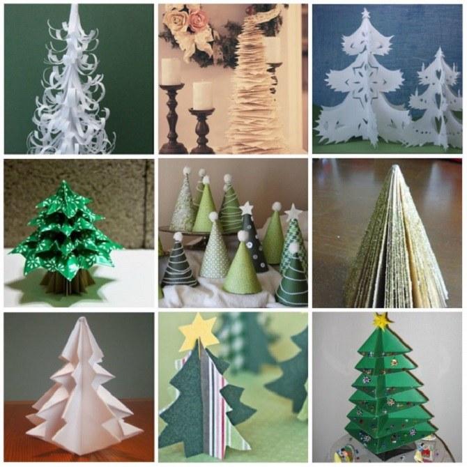 Необычная елка из бумаги своими руками на Новый год 2021: лучшие идеи 1