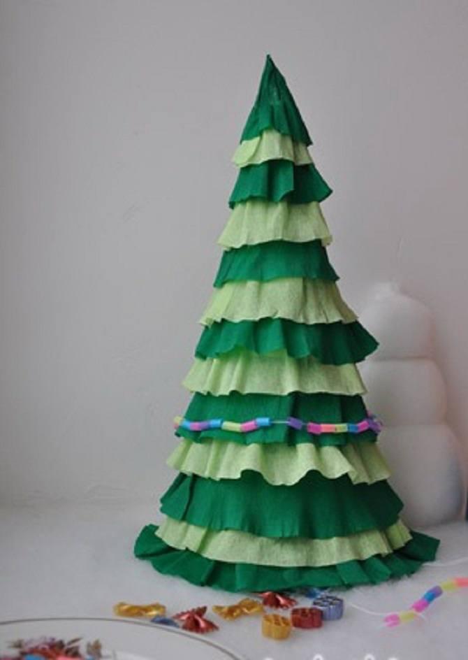 Необычная елка из бумаги своими руками на Новый год 2021: лучшие идеи 7
