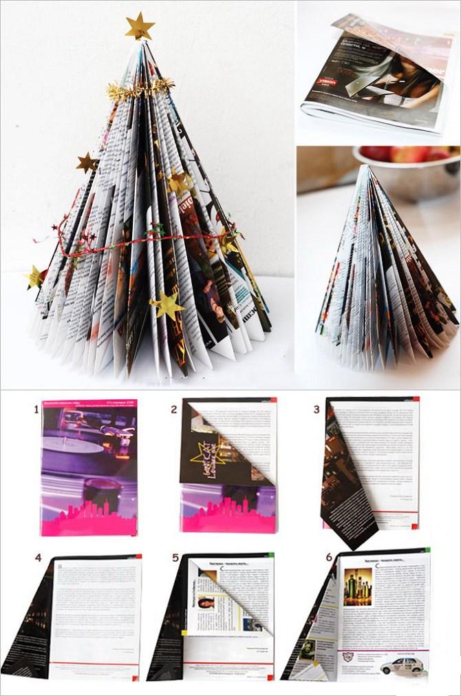 Необычная елка из бумаги своими руками на Новый год 2021: лучшие идеи 14