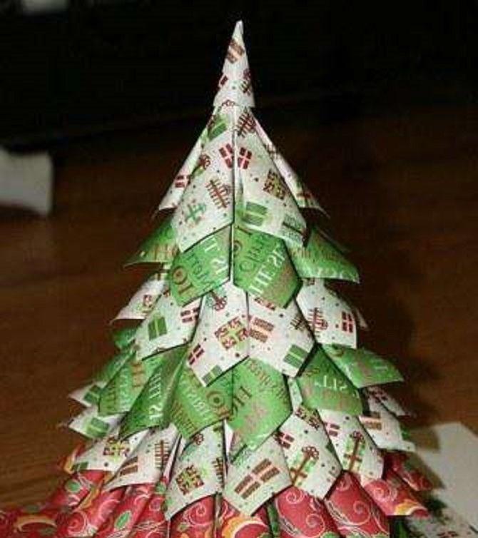 Необычная елка из бумаги своими руками на Новый год 2021: лучшие идеи 16