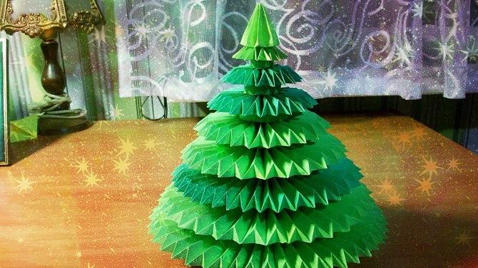 Необычная елка из бумаги своими руками на Новый год 2021: лучшие идеи 17