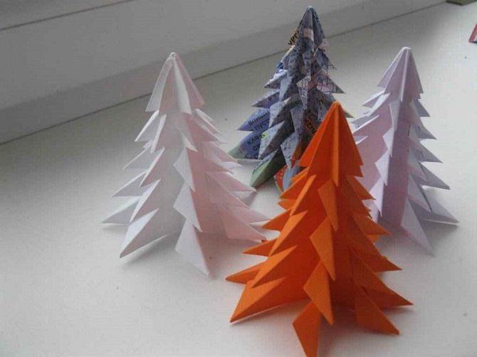 Необычная елка из бумаги своими руками на Новый год 2021: лучшие идеи 18