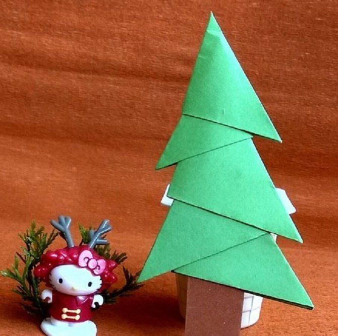Необычная елка из бумаги своими руками на Новый год 2021: лучшие идеи 19
