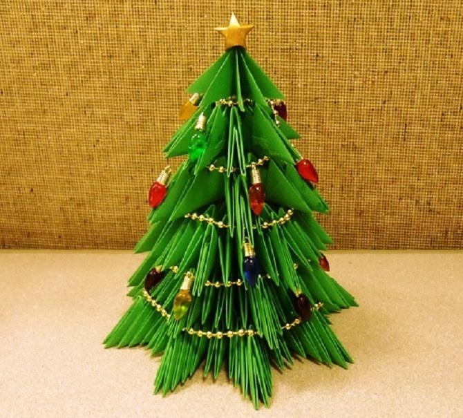 Необычная елка из бумаги своими руками на Новый год 2021: лучшие идеи 22