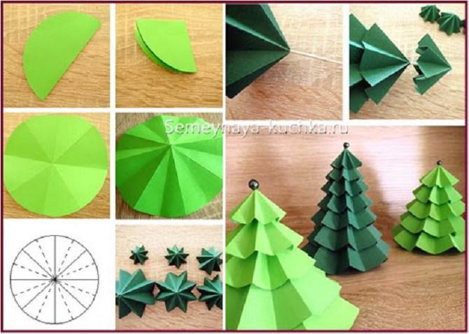 Необычная елка из бумаги своими руками на Новый год 2021: лучшие идеи 23