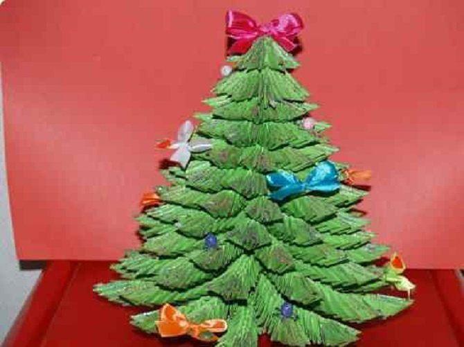 Необычная елка из бумаги своими руками на Новый год 2021: лучшие идеи 32