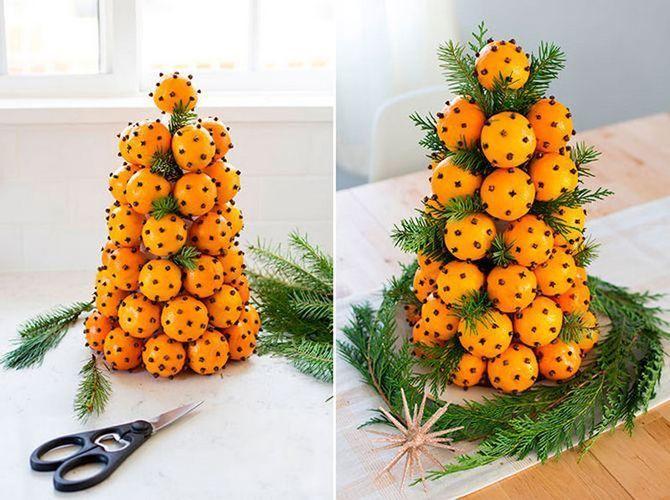 Новогодний декор из мандаринов: 7 необычных идей 5