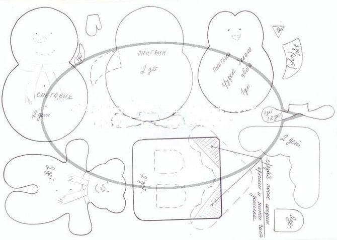 Новогодняя фетромания: елочные игрушки из фетра своими руками 16