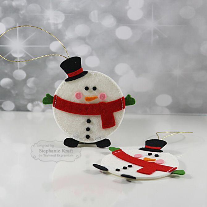 Новогодняя фетромания: елочные игрушки из фетра своими руками 33