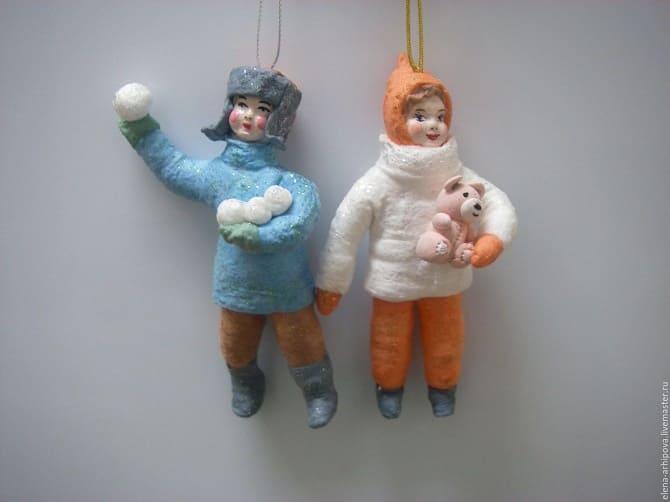 Создаем елочные игрушки из ваты: крутые новогодние поделки 1