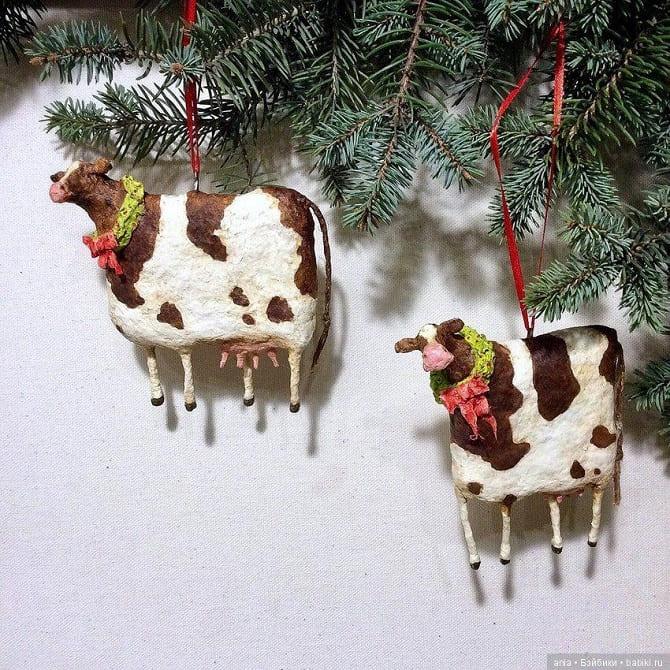 Создаем елочные игрушки из ваты: крутые новогодние поделки 13