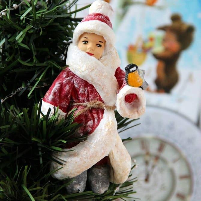 Создаем елочные игрушки из ваты: крутые новогодние поделки 15