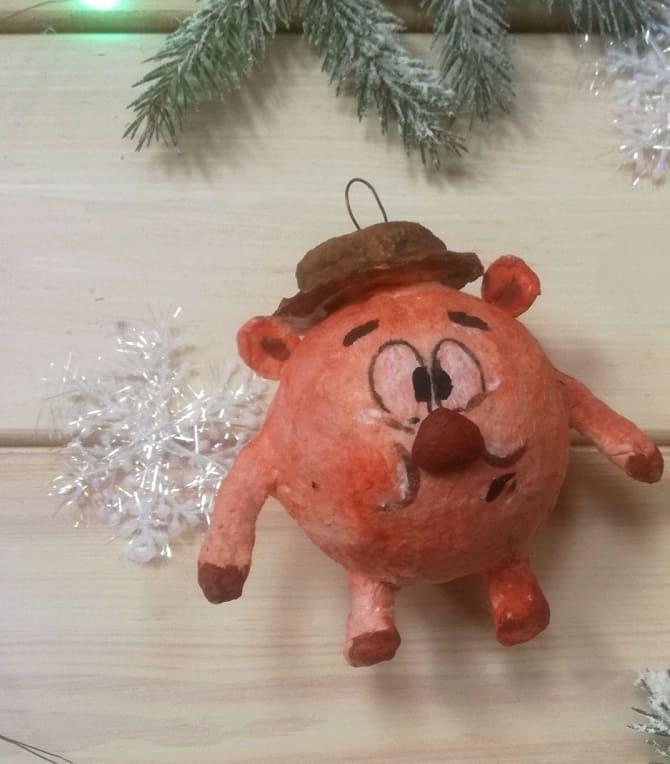 Создаем елочные игрушки из ваты: крутые новогодние поделки 22