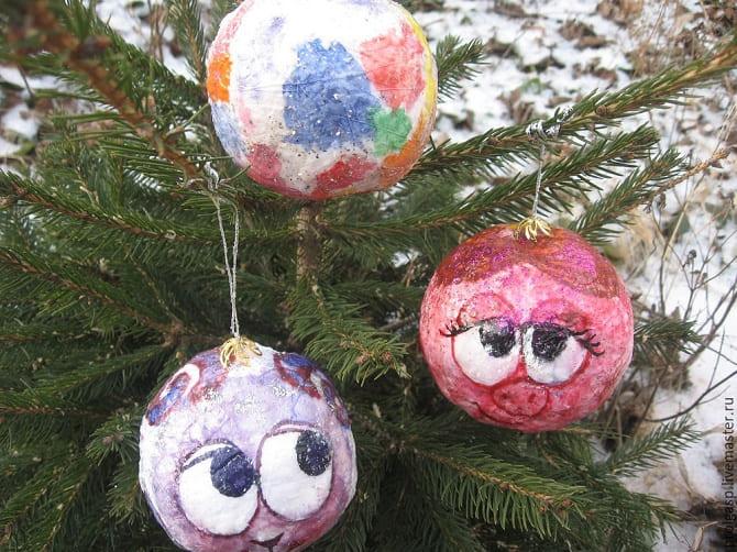 Создаем елочные игрушки из ваты: крутые новогодние поделки 23