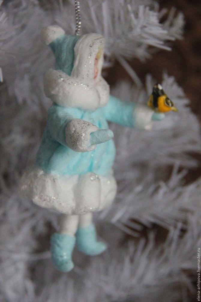 Создаем елочные игрушки из ваты: крутые новогодние поделки 24