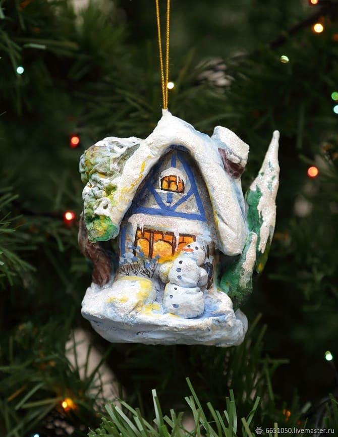 Создаем елочные игрушки из ваты: крутые новогодние поделки 27