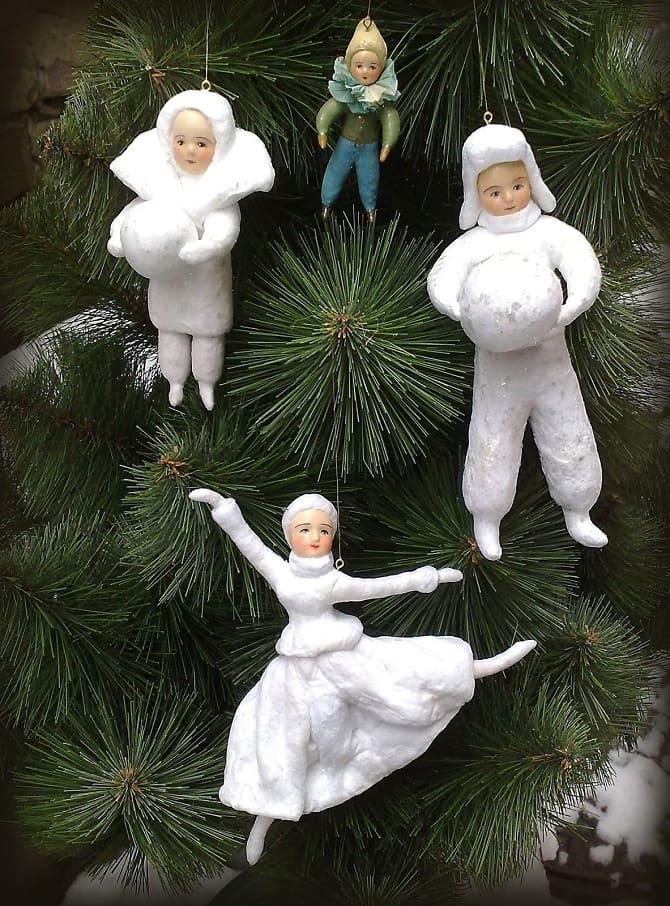 Создаем елочные игрушки из ваты: крутые новогодние поделки 4