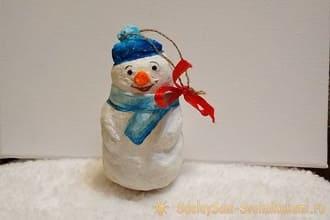 Створюємо ялинкові іграшки з вати: круті новорічні вироби 9