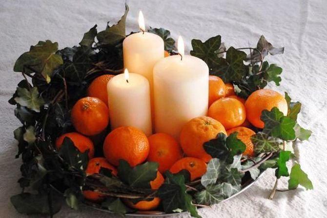 Новогодний декор из мандаринов: 7 необычных идей 8