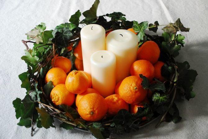 Новогодний декор из мандаринов: 7 необычных идей 11