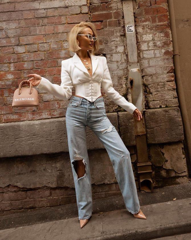 Як подовжити ноги за допомогою джинсів – модні прийоми 26