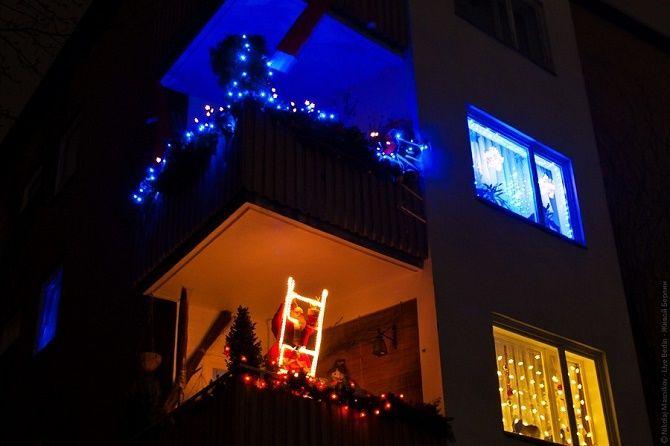 Крутые идеи, как украсить балкон на Новый год 2021 15