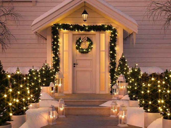 Крутые идеи, как украсить дом на Новый год и Рождество 2021 22