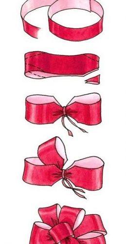 Как красиво завязать рождественский бант – мастер-класс для создания новогоднего декора 2