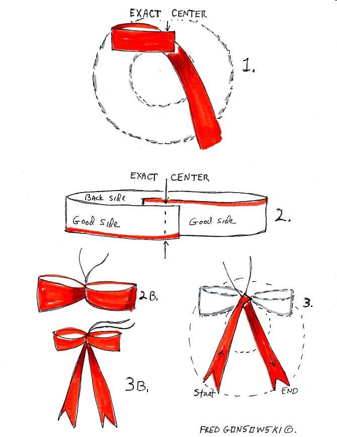 Как красиво завязать рождественский бант – мастер-класс для создания новогоднего декора 3
