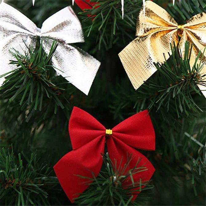 Как красиво завязать рождественский бант – мастер-класс для создания новогоднего декора 4