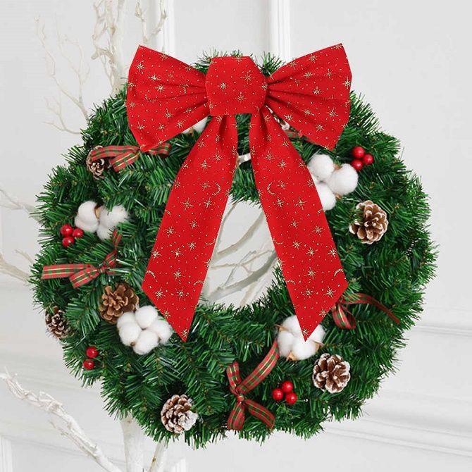Как красиво завязать рождественский бант – мастер-класс для создания новогоднего декора 16