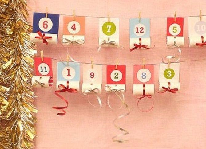 Адвент-календарь своими руками для детей: лучшие идеи с примерами 19