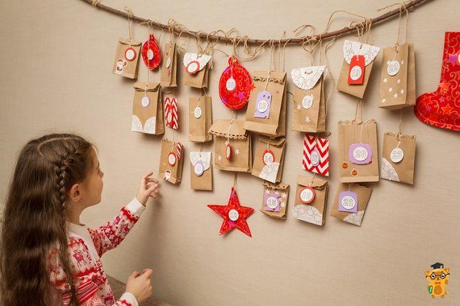 Адвент-календарь своими руками для детей: лучшие идеи с примерами 20