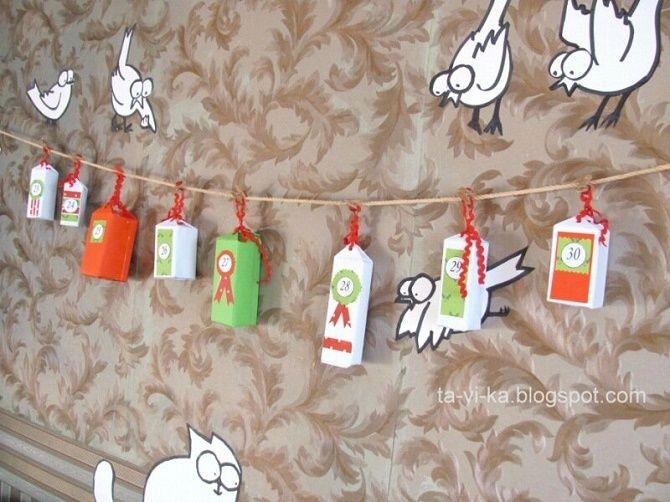 Адвент-календарь своими руками для детей: лучшие идеи с примерами 21