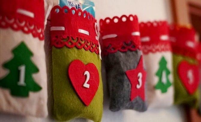 Адвент-календар своїми руками для дітей: кращі ідеї з прикладами 24