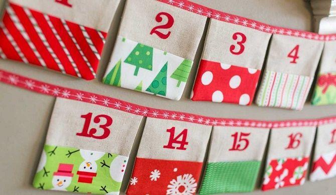 Адвент-календарь своими руками для детей: лучшие идеи с примерами 30
