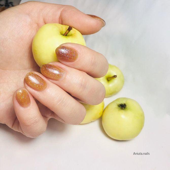 Карамельний манікюр – 80 смачних ідей дизайну нігтів 13