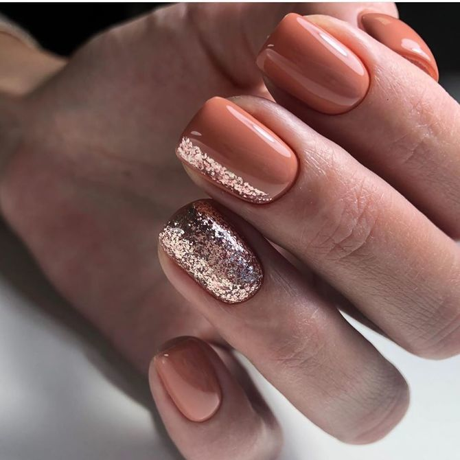 Карамельний манікюр – 80 смачних ідей дизайну нігтів 15