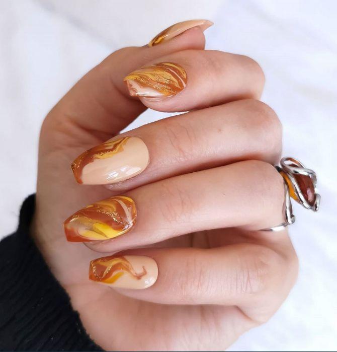 Карамельний манікюр – 80 смачних ідей дизайну нігтів 1