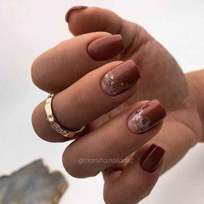 Карамельний манікюр – 80 смачних ідей дизайну нігтів 16