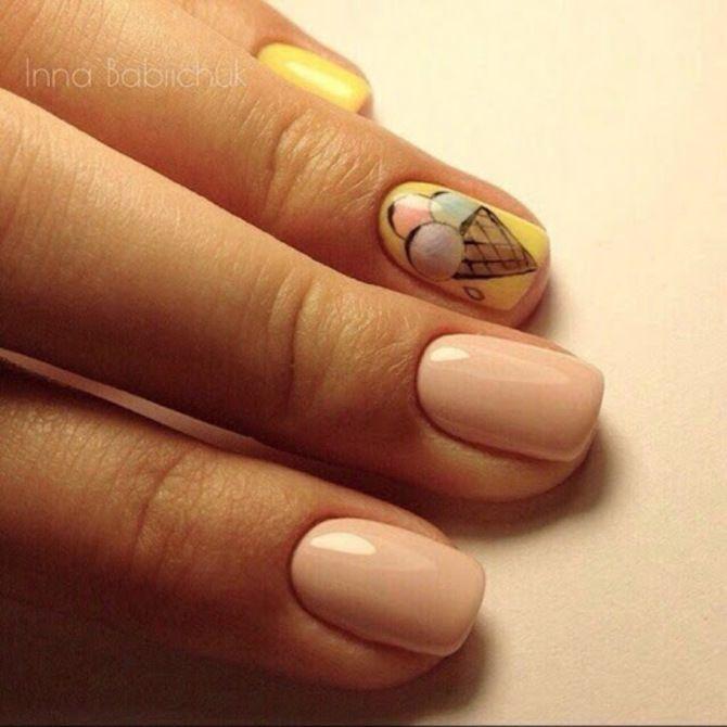 Карамельний манікюр – 80 смачних ідей дизайну нігтів 31
