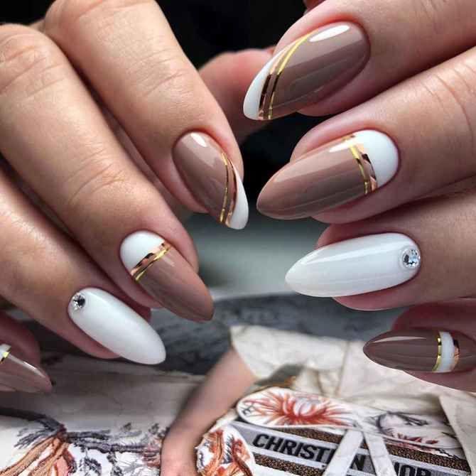 Карамельний манікюр – 80 смачних ідей дизайну нігтів 43