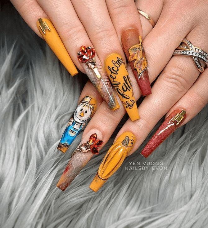 Карамельний манікюр – 80 смачних ідей дизайну нігтів 73