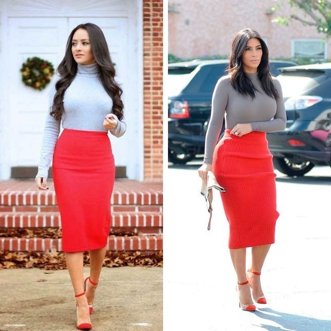 Красные юбки — с чем сочетать, чтобы выглядеть красиво 11