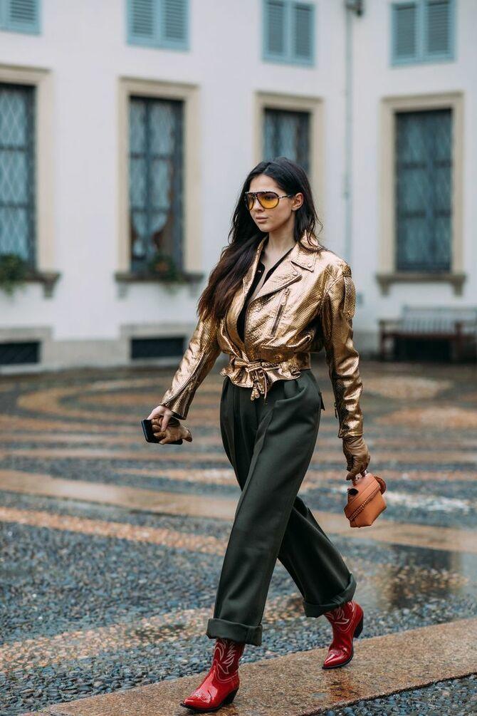 С чем носить казаки в модном сезоне 2020-2021 37