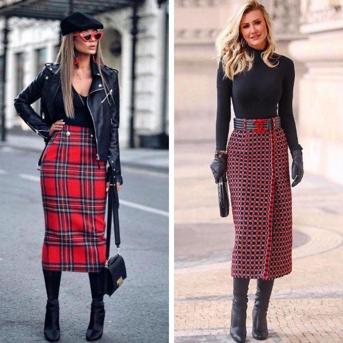 Красные юбки — с чем сочетать, чтобы выглядеть красиво 17
