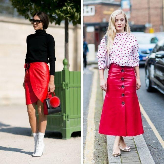 Красные юбки — с чем сочетать, чтобы выглядеть красиво 14