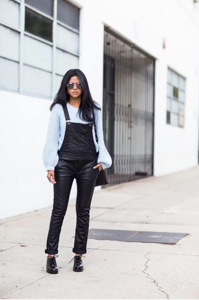 Стильные луки с кожаными комбинезонами: почему их стоит носить 12