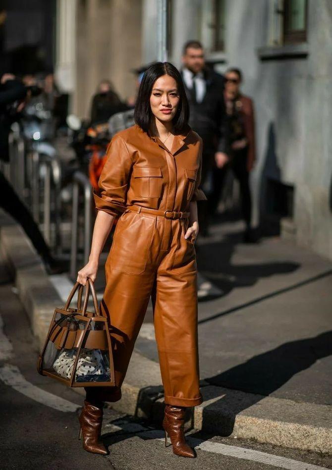 Стильные луки с кожаными комбинезонами: почему их стоит носить 13